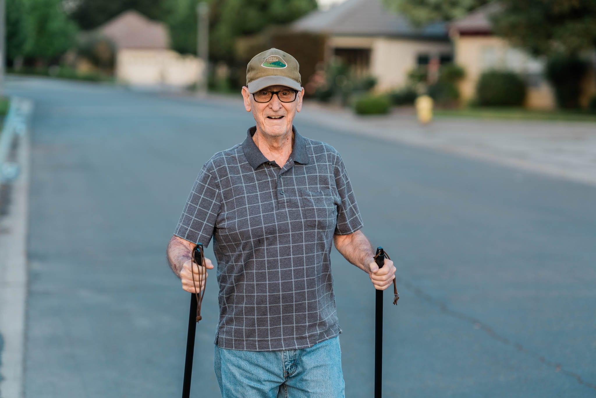 Senior Gentleman Enjoying Walk
