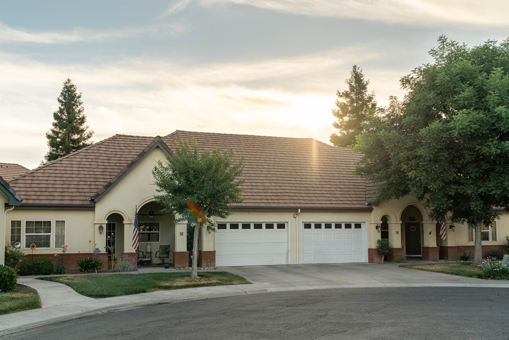 Front View of Townhome at Sierra Village
