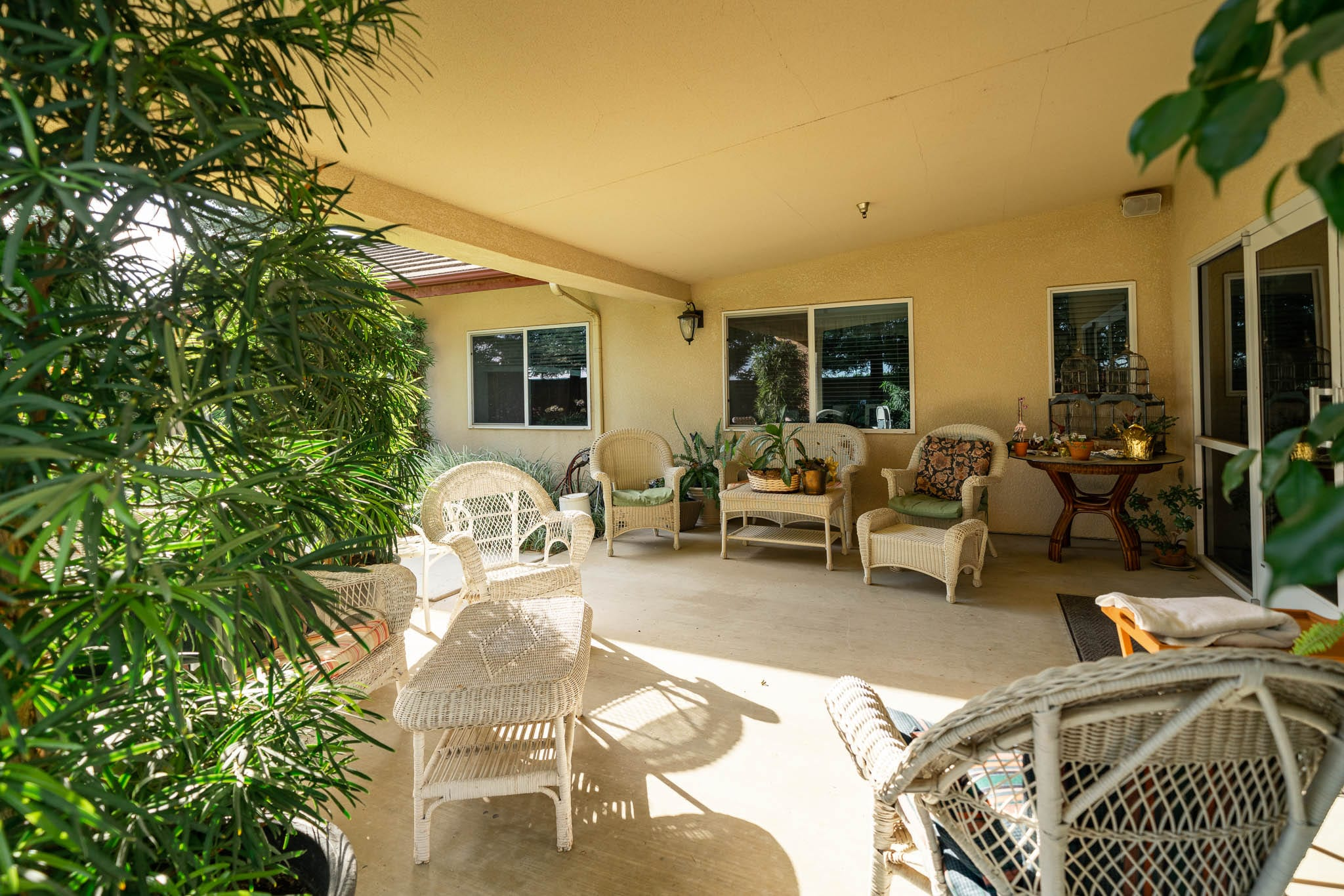 Patio Seating at Sierra Village Assisted Living Center