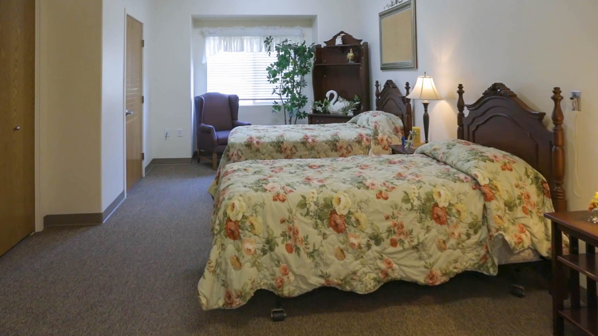 Bedroom in Sierra Village Assisted Living Facility